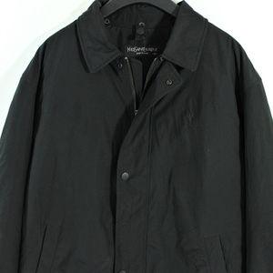 VTG Yves Saint Laurent YSL Jacket Mens Rare Black